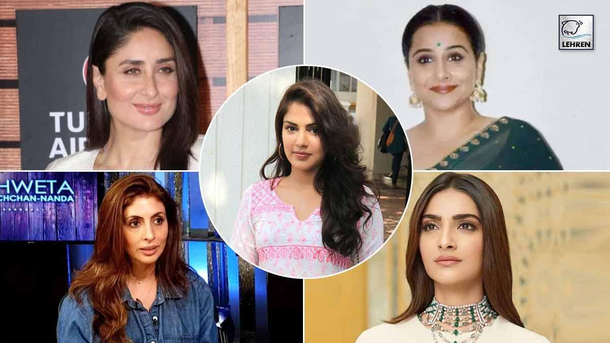 Bollywood celebs reaction On Rhea Chakraborty
