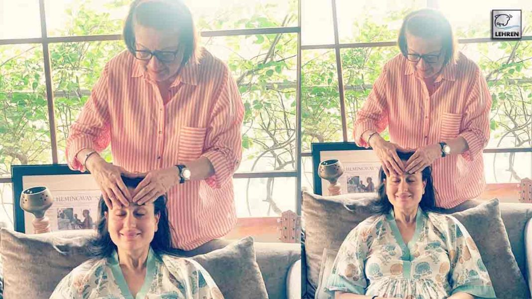 Kareena Kapoor Enjoys Head Massage
