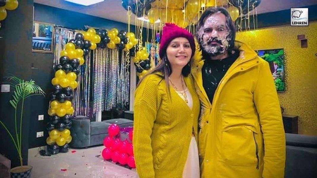 Sapna Choudhary Celebrated Husbands Birthday