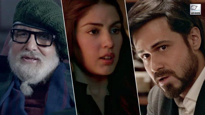 Chehre Trailer Out Rhea Chakraborty appeared in Amitabh Bachchan-Emraan Hashmi's suspense-thriller film
