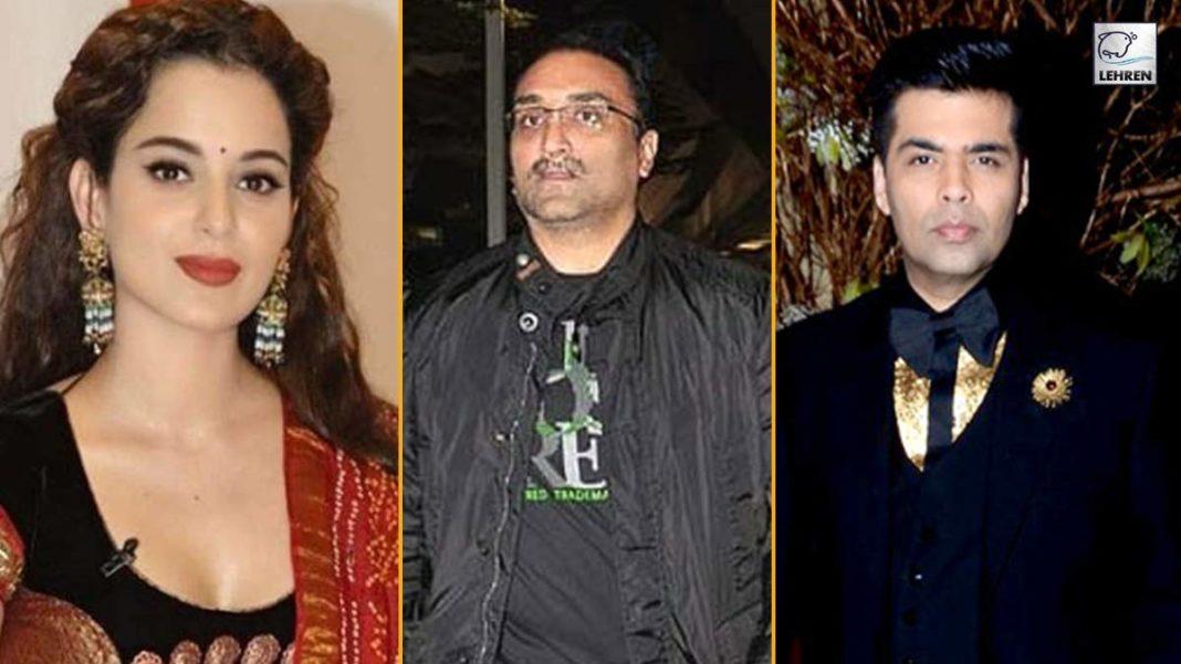 Kangana Ranaut attacked Karan Johar and Aditya Chopra via tweet post