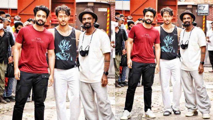 Tiger Shroff, Remo DSouza, Jackky Bhagnani Spotted At SJ Studio