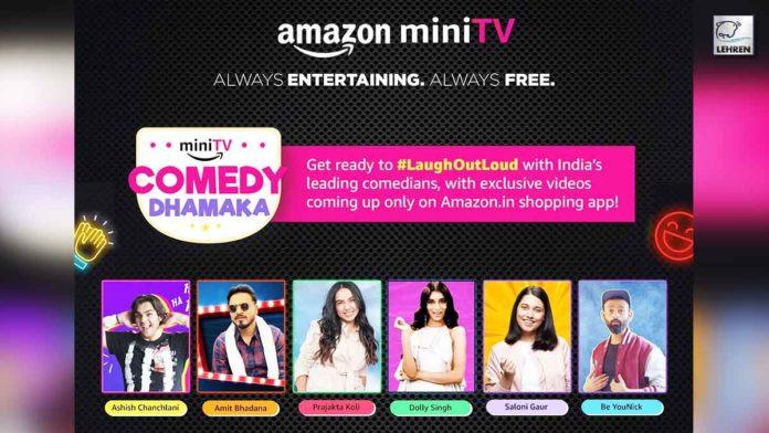 Amazon mini tv India top comedians