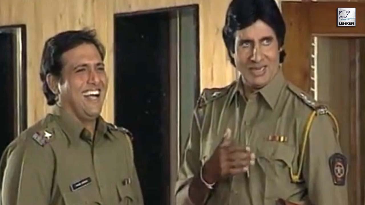 Amitabh Bachchan, Govinda On The Sets Of Bade Miyan Chote Miyan