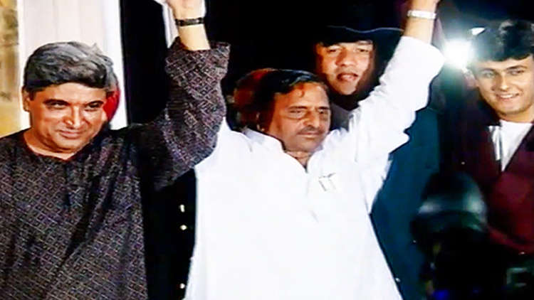 Anu Malik, Javed Akhtar And J. P. Dutta At Border Music Launch