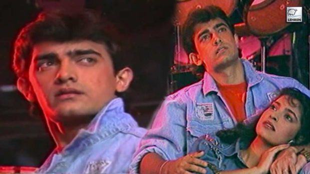 Aamir Khan, Juhi Chawla Shoot And Pose On The Sets Of Love Love Love'