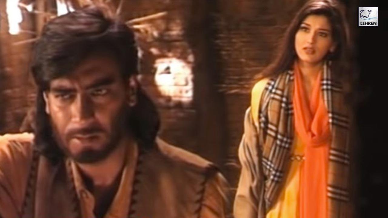 Ajay Devgan, Sonali Bendre, Madhoo On The Sets Of Diljale