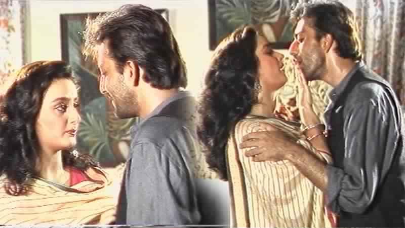 Sanjay Dutt, Farah On The Sets Of Namak