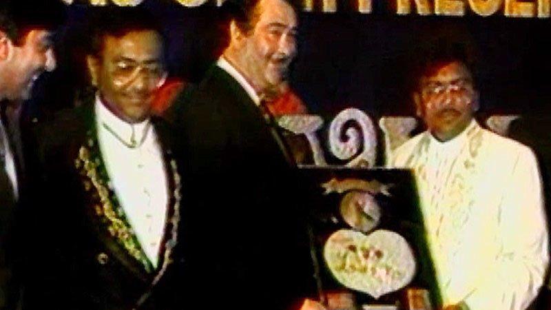 Randhir Kapoor, Dharmendra At The Music Launch Of I Love You