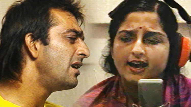Sahibaan Meri Sahibaan' Song Recording Featuring Sanjay Dutt, Anuradha Paudwal, Shiv Hari
