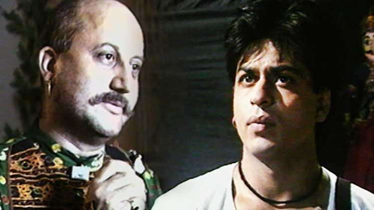Shah Rukh Khan And Anupam Kher's Interview On The Sets Of Chaahat