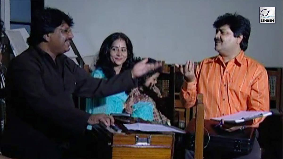 Udit Narayan Recording A Song For Film Raja Bhaiya