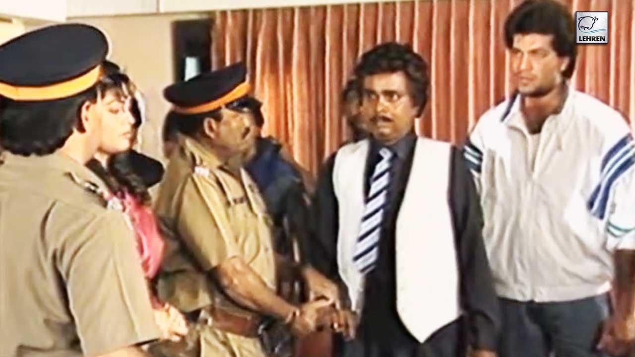 Aditya Pancholi Shooting An Action Scene For Film Awara Gardi (1990)