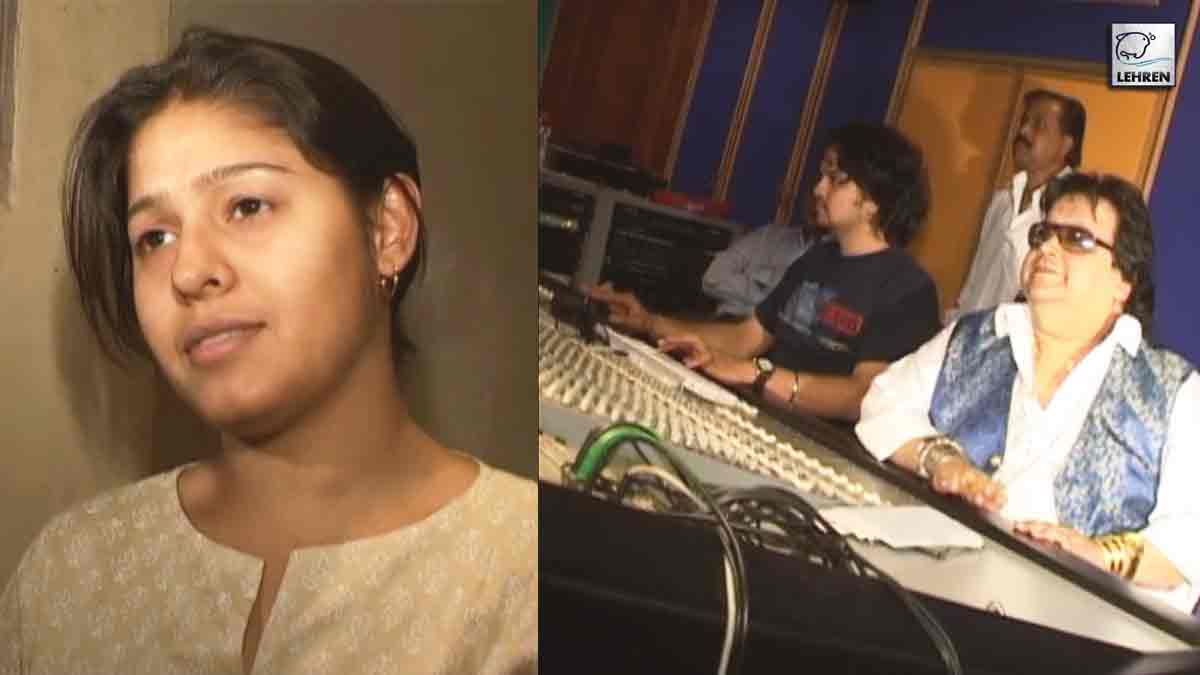 Bappi Lahiri At The Song Recording For Film Mudrank