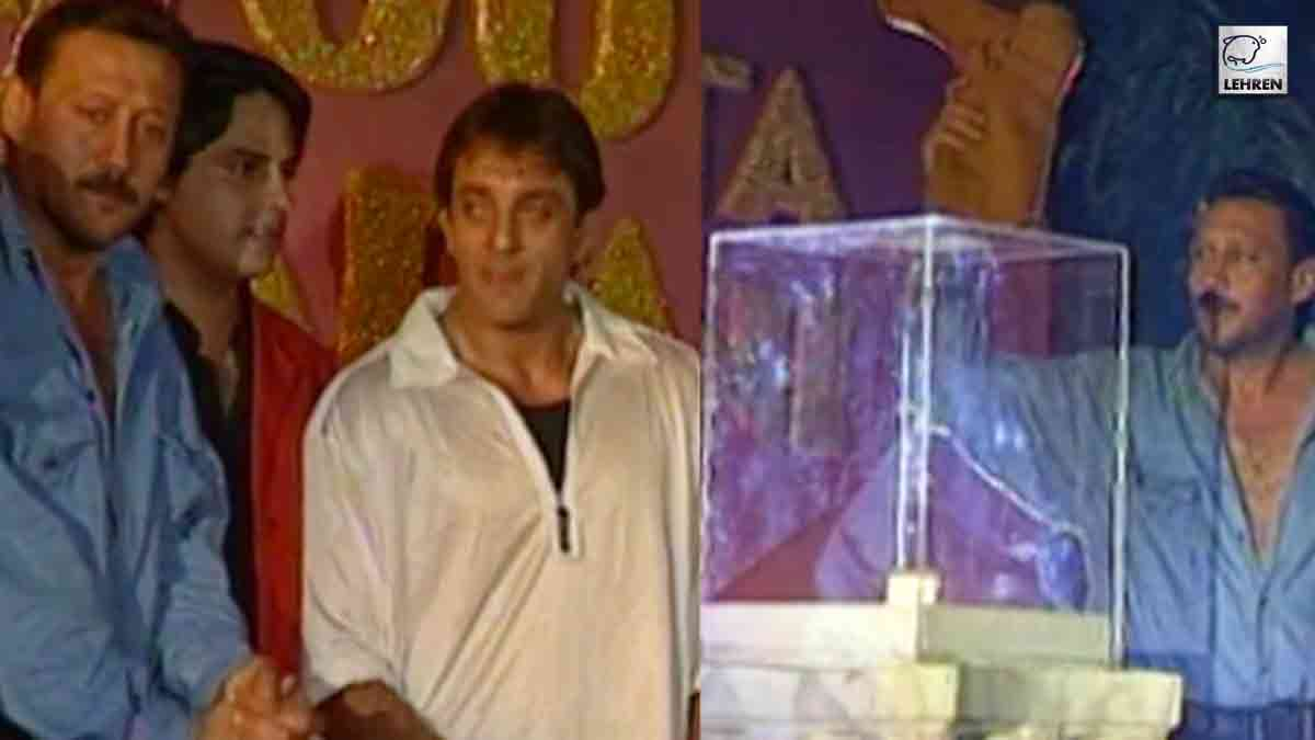 Sanjay Dutt, Jackie Shroff, Shakti Kapoor At The Muhurat Of Film Mera Joota Hai Japani