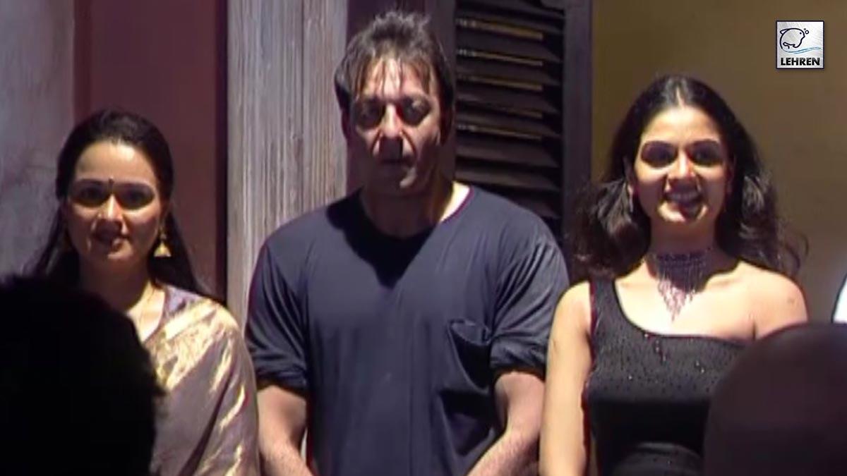 Muhurat Of Sanjay Dutt's Unreleased And Untitled Film With Tejaswini Kolhapure