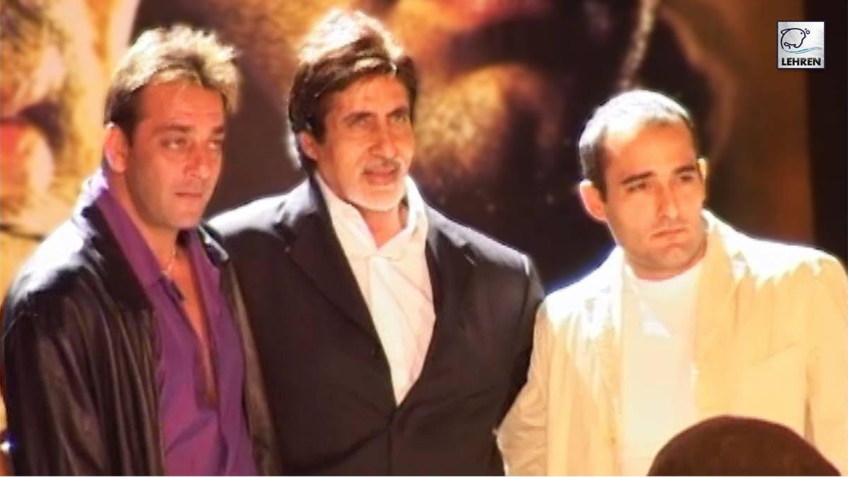Amitabh Bachchan, Sanjay Dutt At The Music Launch Of 2004 Film Deewaar