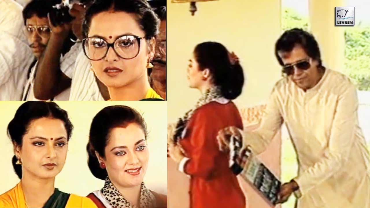 On The Sets Of Rekha's 1989 Film Ladaai