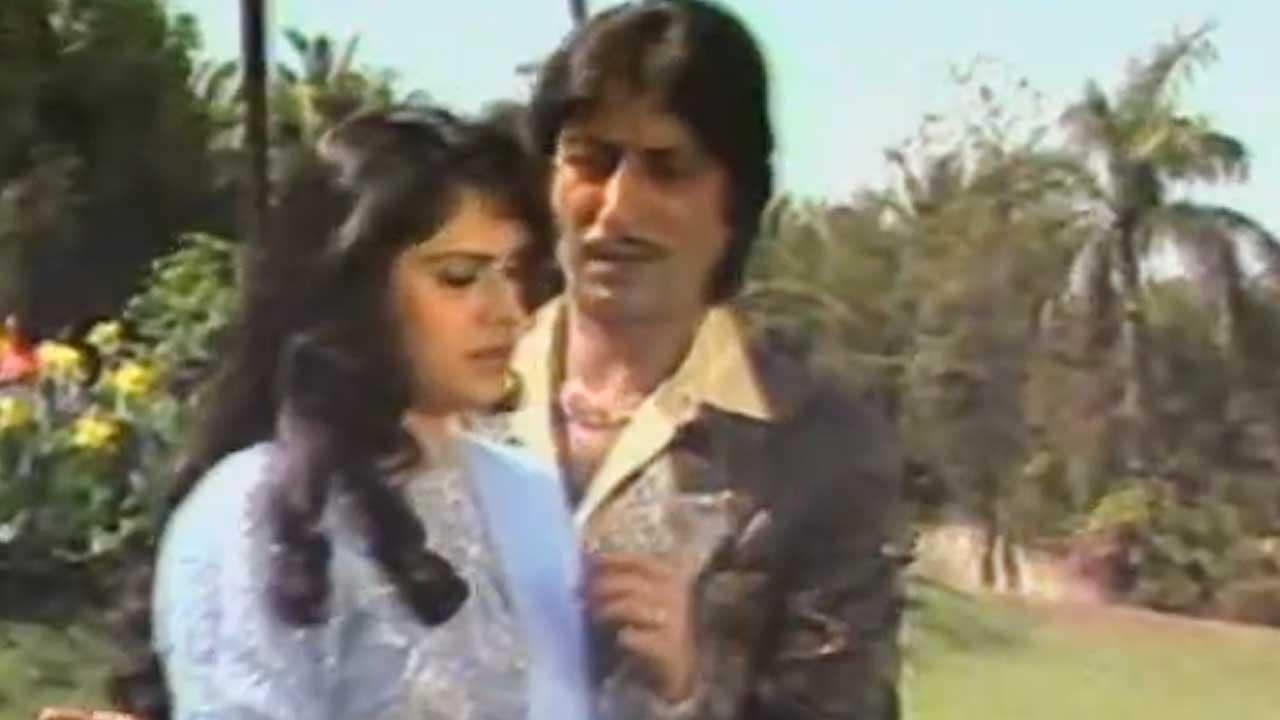 Meenakshi Sheshadri, Shakti kapoor On The Sets Of 'Teri Payal Mere Geet' (1993)