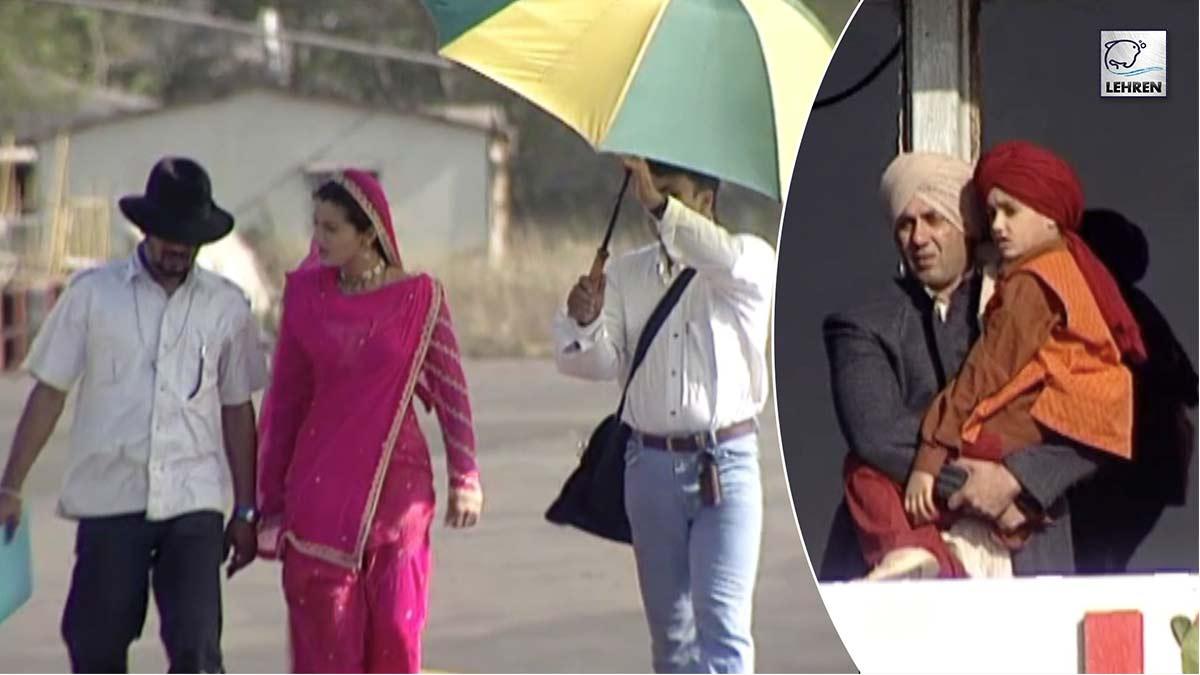Rare Video From The Sets Of Gadar Ek Prem Katha Featuring Sunny Deol, Ameesha Patel