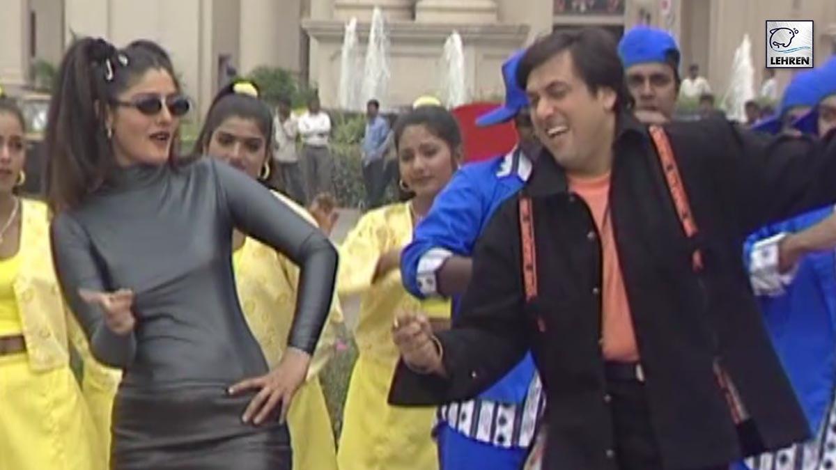 Watch The Shooting Of Govinda And Raveena Tandon's Film Anari No. 1