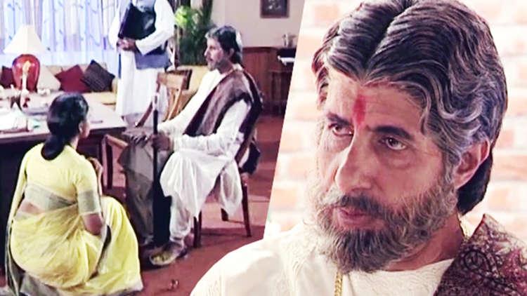 Amitabh Bachchan On The Sets Of Sooryavansham