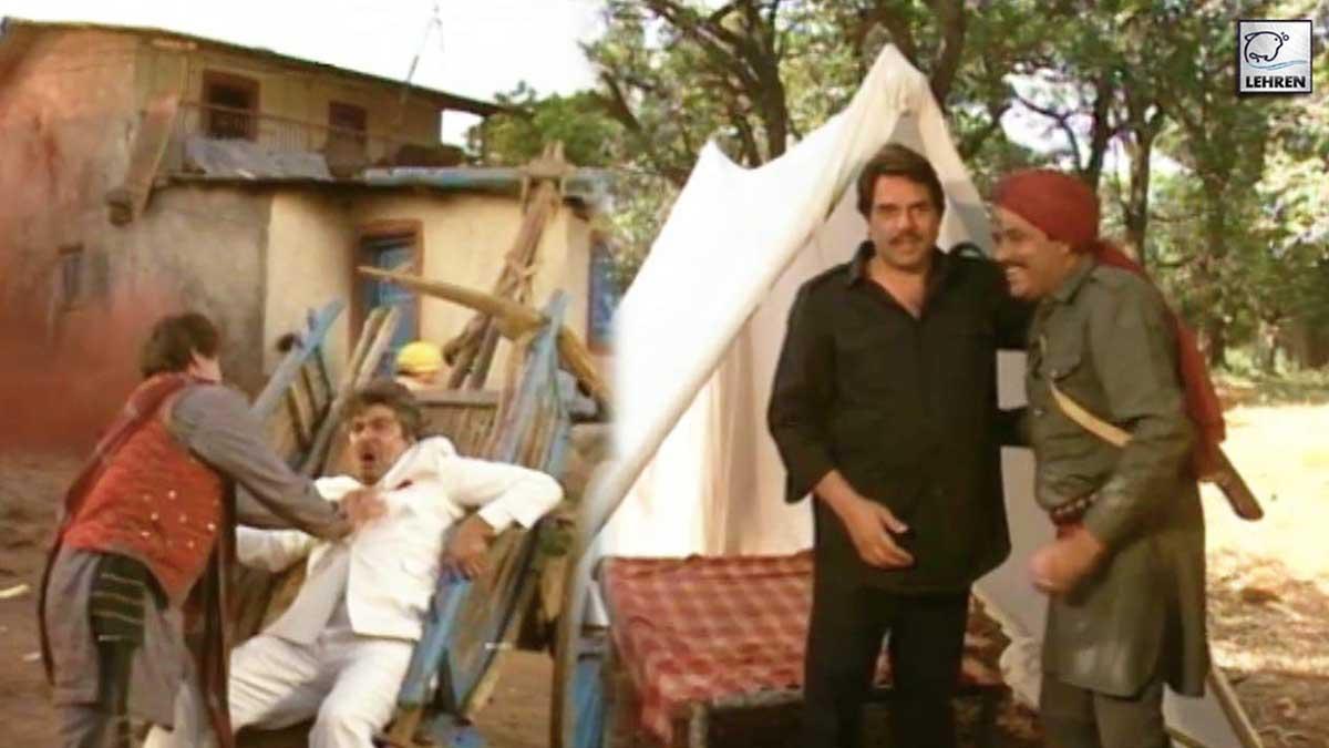 Dharmendra, Raj Babbar On The Sets Of 'Fauji' (1995)