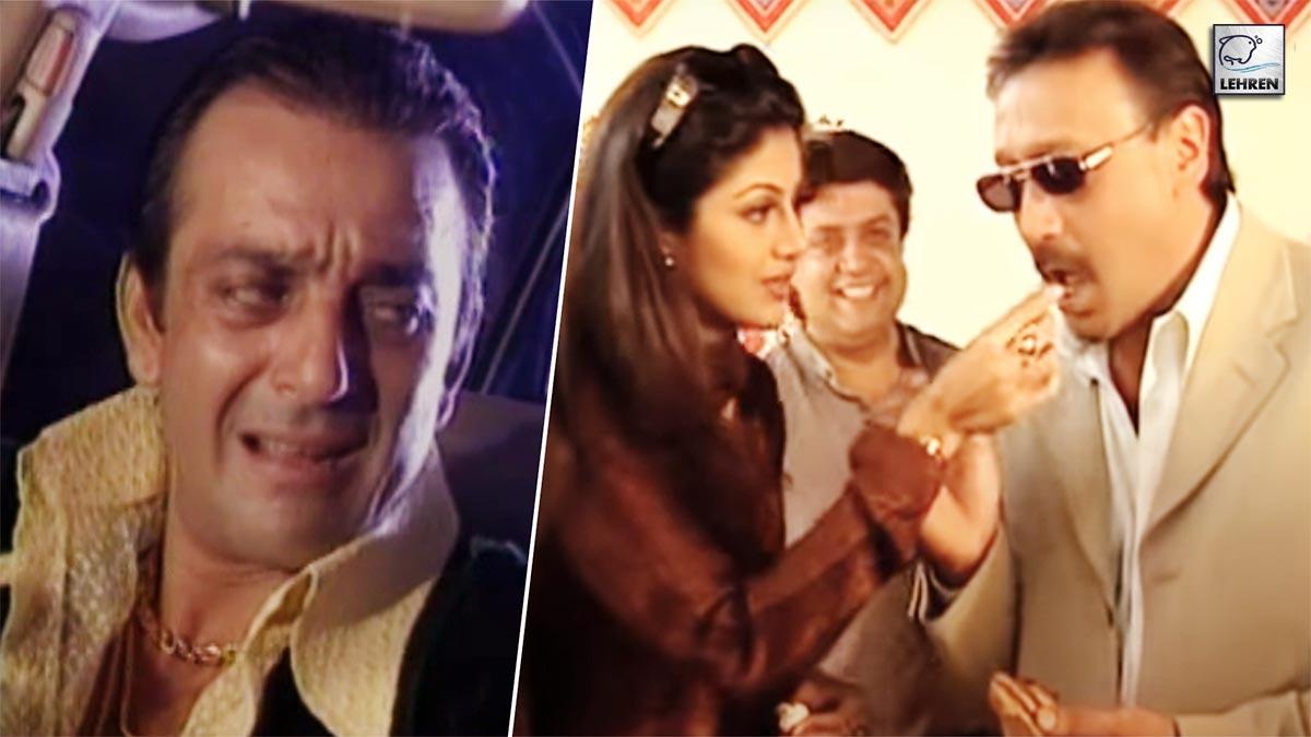 Sanjay Dutt, Shilpa Shetty On The Sets Of 'Jung' (2000)