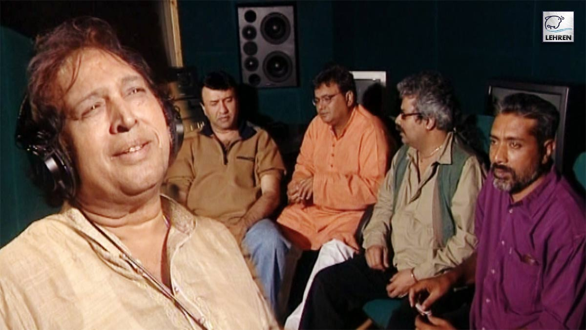 Anu Malik, Subhash Ghai At The Song Recording For Film 'Rahul'