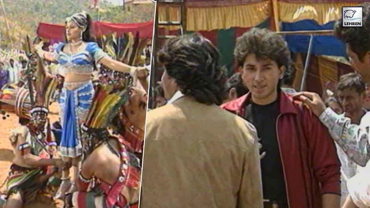 Arshad Warsi, Chandrachur Singh On The Sets Of 'Betaabi' (1997)