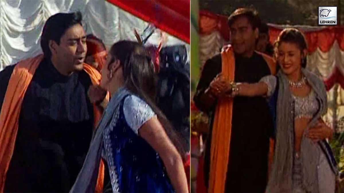 Ajay Devgan, Arshad Warsi Shoot For 'Hogi Pyaar Ki Jeet' (1999)