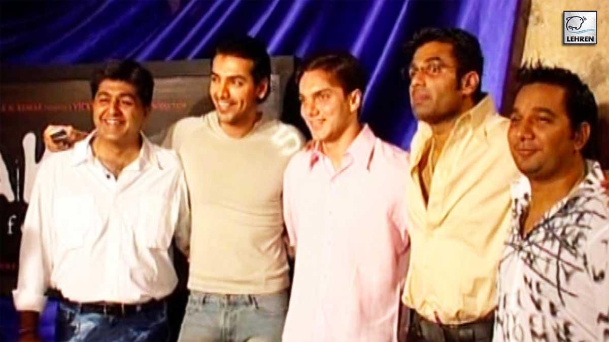Suniel Shetty, John Abraham, Sohail Khan Chat Up With Lehren During The Making Of 'Lakeer'