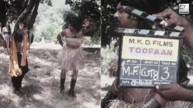 amitabh-bachchan-funny-antics-during-toofan-film-shooting