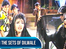 Raveena Tandon and Ajay Devgn on the sets of Dilwale | Flashback Video