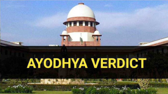 Ayodhya verdict: Disputed Ayodhya site goes to temple, Muslims to get alternative land
