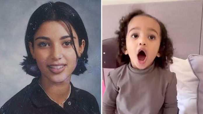 REALLY? Kim Kardashian's 9th Grade Yearbook Pic JUST LOOK LIKE Daughter Chicago's Twin