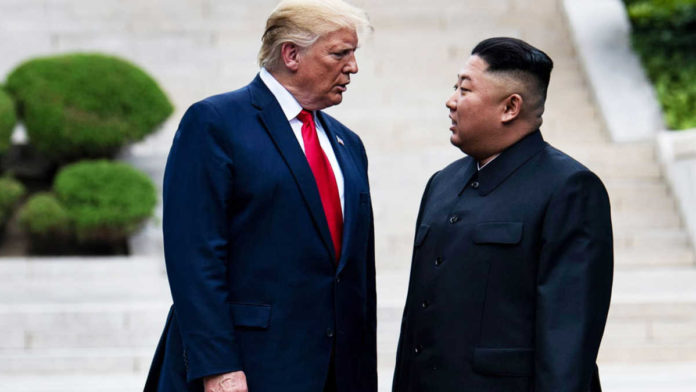 Donald Trump says, We would have been at war with North Korea if I wasn't President