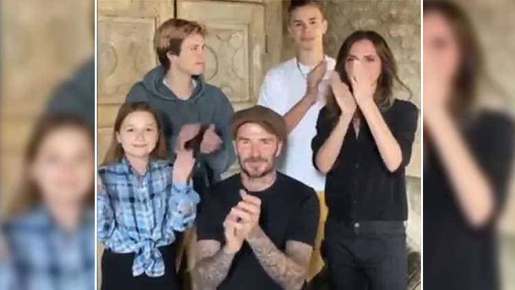 David Beckham & His Family Applaud Healthcare Workers