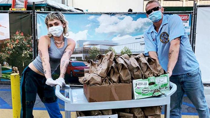 Miley Cyrus & Cody Simpson Deliver Tacos To Healthcare Workers