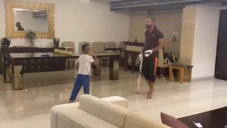 Shikhar Dhawan Plays Indoor Cricket With Son Zoravar; WATCH