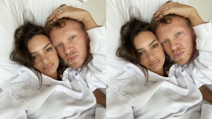 Power Couple Emily Rajakowski And Husband Sebastian Bear-Mcclard Pairing In Matching Outfits