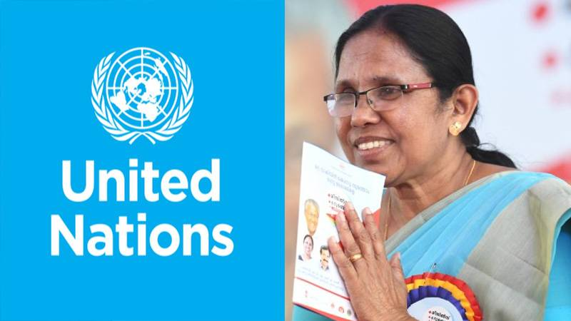 UN honours Kerala Health Minister for tackling COVID-19 pandemic