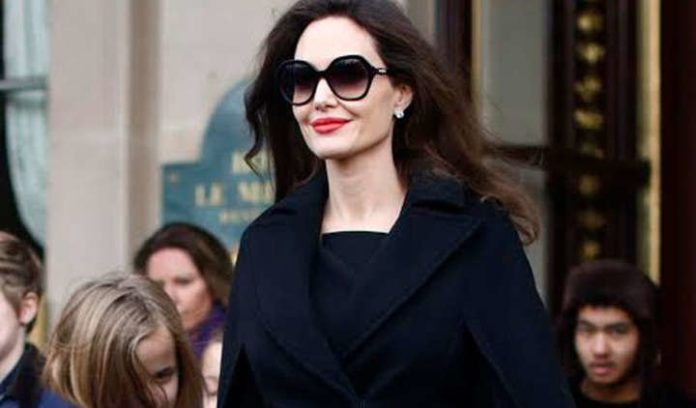 Angelina Jolie Spotted Out For Dinner With Son Pax