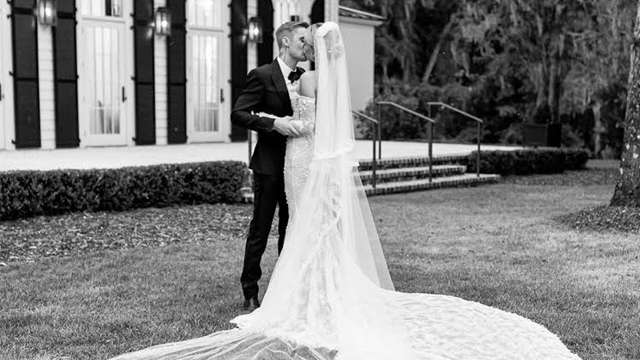 Hailey Baldwin's final wedding gown fitting with designer Virgil Abloh