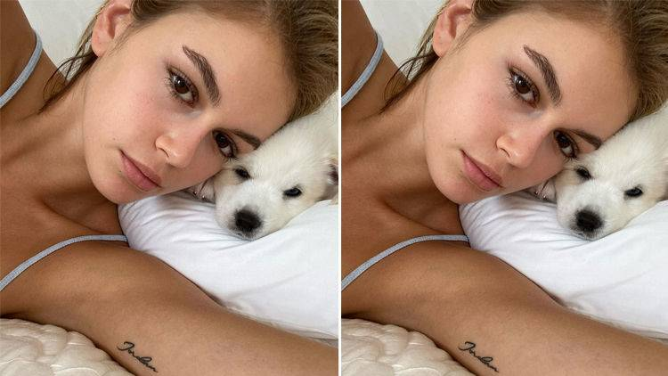 Kaia Gerber Got Her Arm Cast Off; Enjoys The Sun With Adorable Puppies