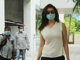 Karishma Tanna spotted at T-series office in Andheri