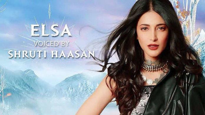 Shruti Haasan will voice Elsa in the Tamil version of Frozen 2!