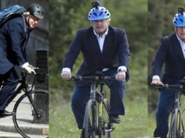UK Prime Minister Boris Johnson rides made-in-India cycle at launch of health scheme