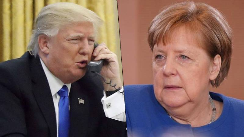 US President Donald Trump called German Chancellor Merkel 'stupid' on phone call