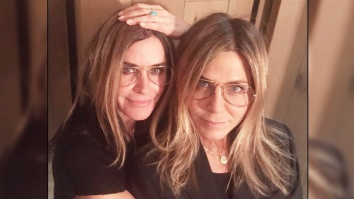 Courteney Cox Shares A Video While Playing Pool Game With Reel And Real Life BFF Jennifer Aniston